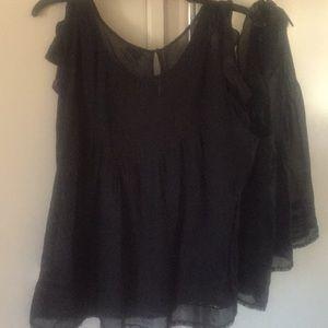 Black trendy blouse